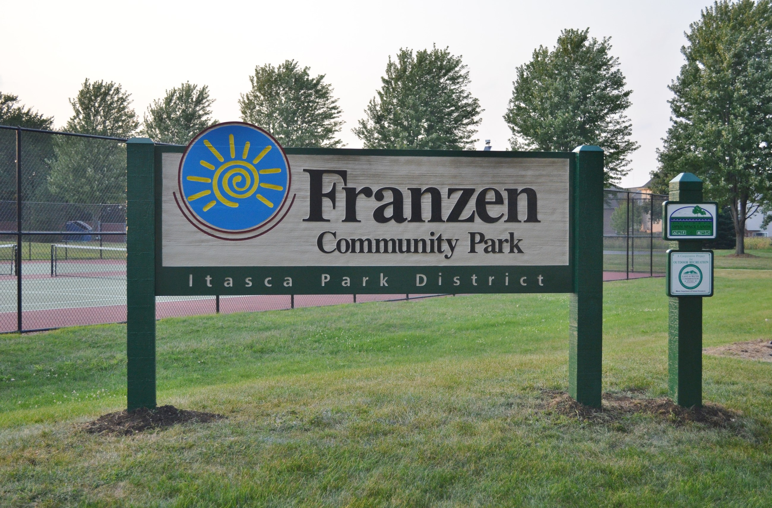 2015 9 New Franzen Comm Park Sign.JPG