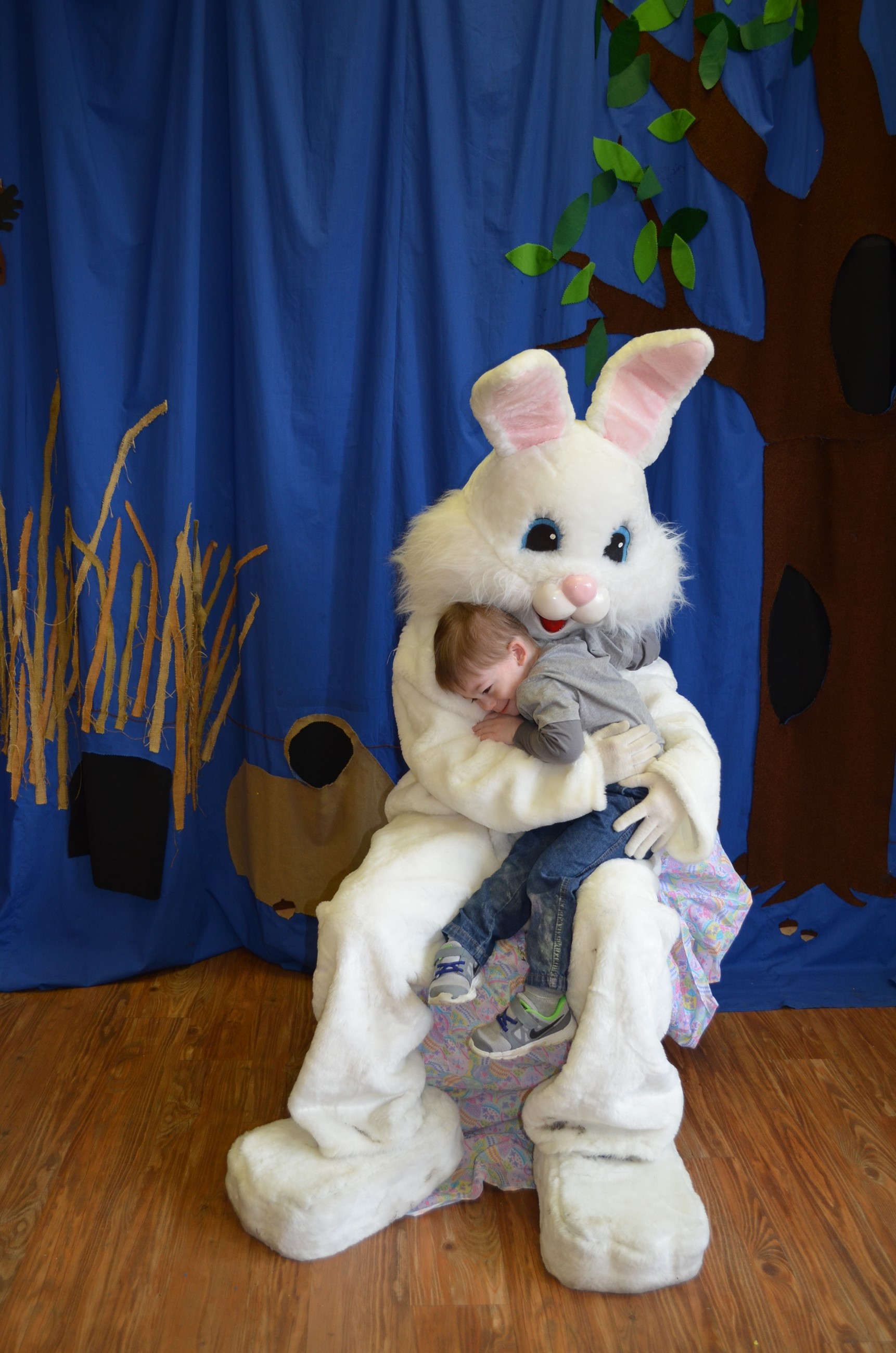 Boy Hugging Easter Bunny.JPG
