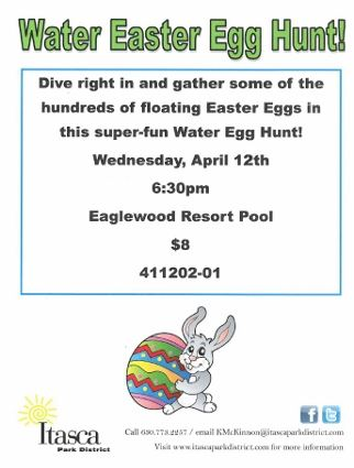 Water Egg Hunt Flyer