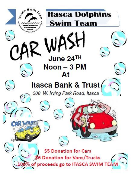 Swim Team Car Wash 2018 6 24