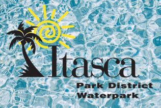 Waterpark with water background