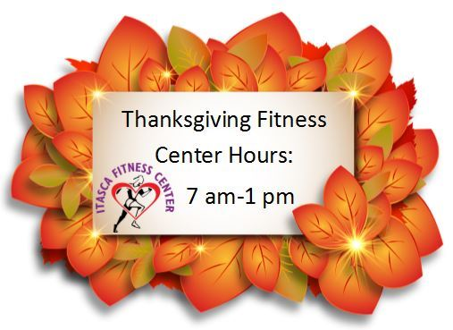 Thanksgiving Fitness Hours 2018