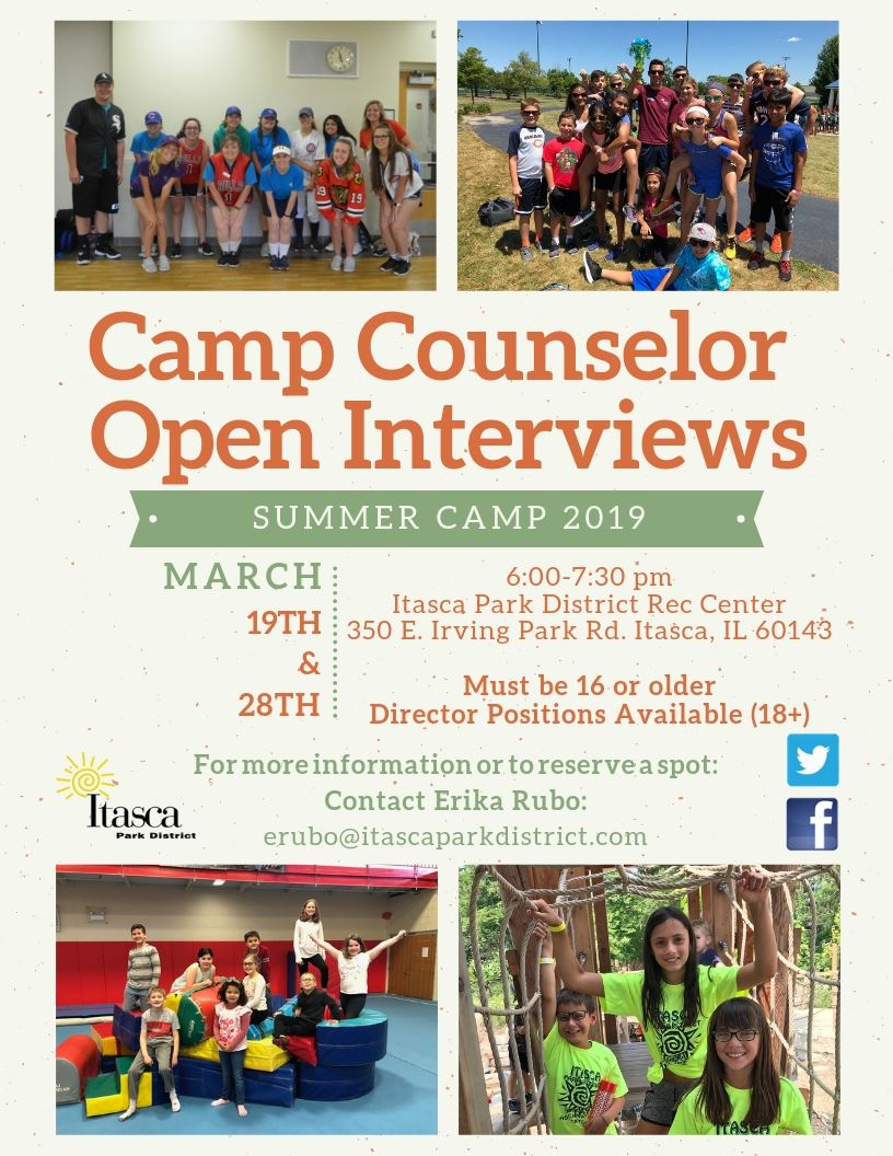 Camp Counselor Open Interviews 2019 Updated