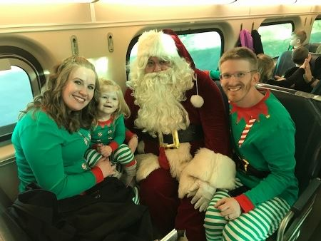 Family at the Polar Express