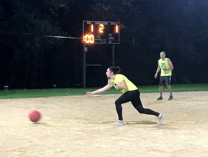 Cup in Hand Kickball pitcher