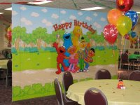 Sesame Street Themed birthday party at the Rec Center