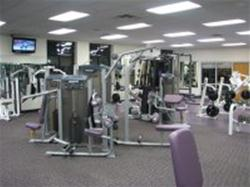 View of the Fitness Center weight lifting machines